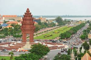 Independence Monument by now-Cambodia was under French Protectorate- 1863-1953-photo shared by fb users